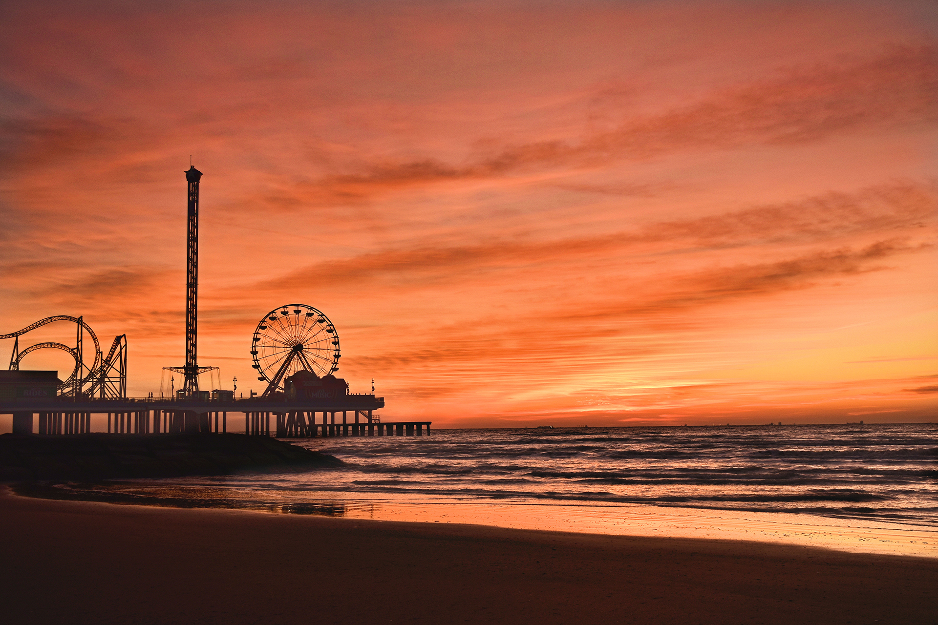 L Bob Bass Pleasure Pier Sunrise